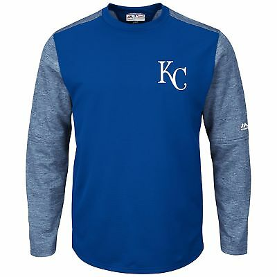 MLB Kansas City Royals Majestic Baseball Langarm Fleece Sweatshirt Herren