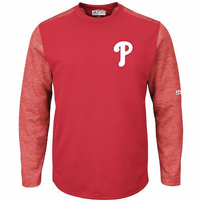 MLB Philadelphia Phillies Majestic Baseball Fleece Sweatshirt Rundhals Herren