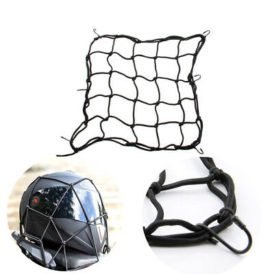 NEW Elastic Cords Bungee Net Holder Helmet Tank Bike Luggage 6 Hooks Mesh Black