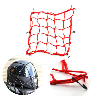 NEW Elastic Cords Bungee Net Holder Helmet Tank Bike Luggage 6 Hooks Mesh