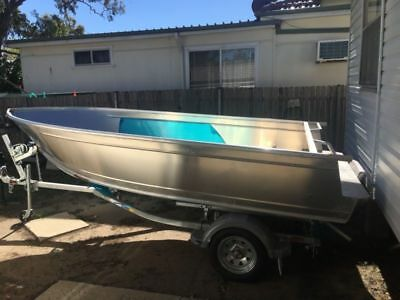 ( PROJECT )15ft Brooker aluminium boat with BRAND NEW trailer & Rego