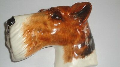 Rare 1930's Crown Devon Dogs Head Plaque - Fox Terrier No 211 Wall Ornament