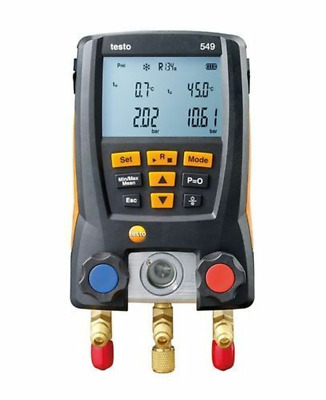 New  HVAC Testo 549 Refregiration Digital Manifold 0560 0550-14 7 to 870 PSI
