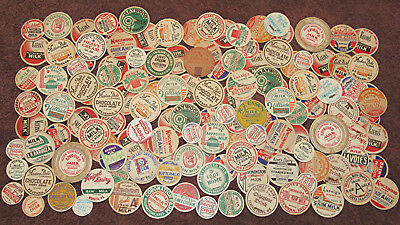 Lot of 142 Old Vintage Milk Dairy Bottle Caps