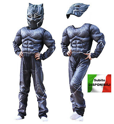 Simile Black Panther Costume Carnevale Bambino Uomo Cosplay Costume BLACKP01