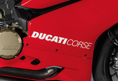 DUCATI CORSE Cast Vinyl Motorcycle Fairing Stickers Decals Panigale X 2