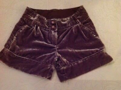 gorgeous girls Next lilac velvet shorts age 5 years perfect condition
