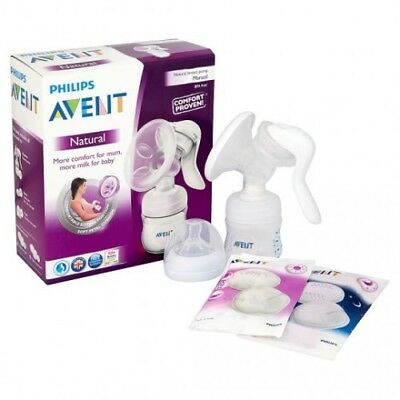 Avent Comfort Manual Breast Pump With Natural 4oz bottle