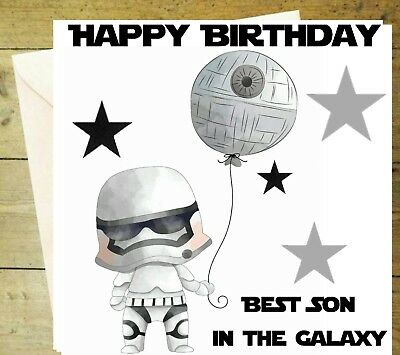 Star wars fathers day storm trooper card glitter detail age birthday star wars birthday storm trooper card son glitter detail birthday greeting m4hsunfo