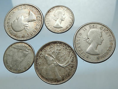 GROUP LOT of 5 Old SILVER Europe or Other WORLD Coins for your COLLECTION i67950