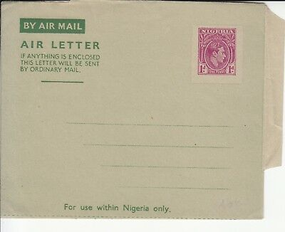 Trees Nigeria Air letter unused pre-stamped with Palm tree