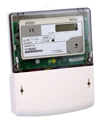 Elster A1100 3 Phase KWH Meter 100amp LCD Display Direct Connect Pulse Output