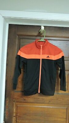 Boy's Adidas Zip Up Track Jacket Size 7 EUC