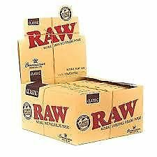 Raw Rolling Paper King Size Connoisseur & Tips Natural 1-300 Books