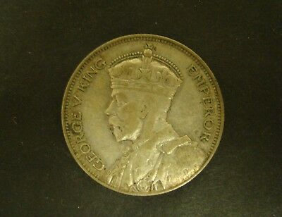 1934 NEW ZEALAND 1/2 CROWN   Silver    KM #5   Foreign Coin