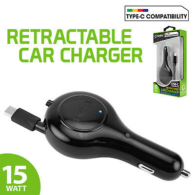 S8 2.5ft. 15 Watt // 3.1Amp USB Type C and Micro USB Retractable with 45 Degree Angle Adjustment Compatible for Samsung Galaxy S9 Plus and More S9 Cellet 2-in-1 Retractable Car Charger Note 8