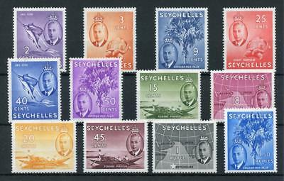 Seychelles 1952 short set to 1r.50 SG158/69 MLH