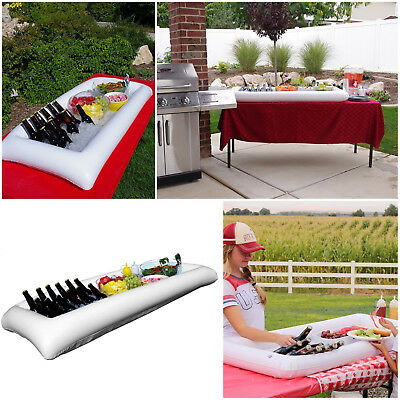 Inflatable Serving Bar Buffet Drink Holder FLOATING Tray Cooler Ice Tray Caddy
