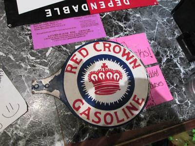 red crown porcelain sign gas sign double sided sign paddle sign MAKE AN OFFER!!