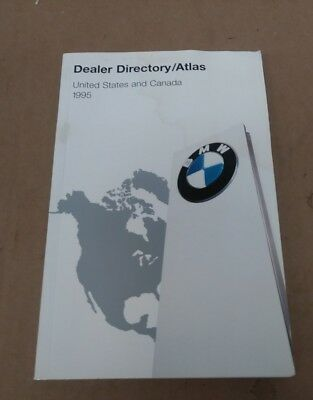 1995 BMW US & Canada Dealer Directory Map Atlas Used
