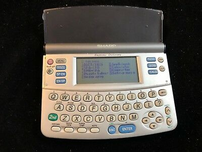 SHARP Electronic Dictionary PW-E250 w/operation manual, SPANISH, ENGLISH