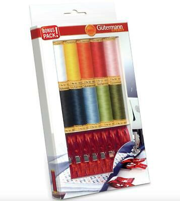 GUTERMANN JEANS /& EXTRA STRONG THREAD SET 731323-5 REELS 5 COLOURS
