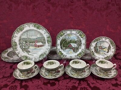 Johnson Brothers Friendly Village 20-Piece Set for 4 Made in England Old Mark #1