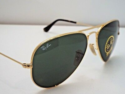 1dbcc06d622 Authentic Ray-Ban RB 3025 181 Gold Havana Green G-15 Aviator M Sunglasses