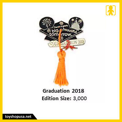 Disney Parks Graduation Day 2018 Mickey Pin Limited Edition New In Hand