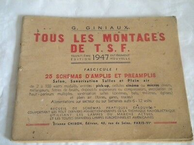 1947 Tous les Montages de TSF French book amps and preamps