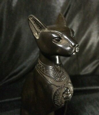 EGYPTIAN ANTIQUITIES BASTET GODDESS Pharaohs Ubasti Cat Statue Egypt Stone BC