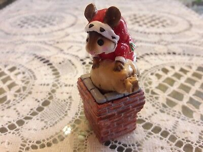 Wee Forest Folk M-143 CHRISTMAS Down the Chimney  Mint/Box/Retired