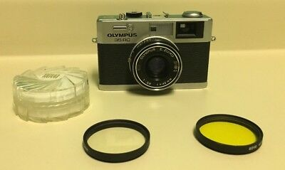 Olympus 35rc Rangefinder Camera with Filters
