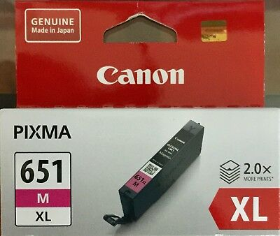Canon CLI-651XL Magenta High Yield Genuine Inkjet Cartridge     New & Sealed