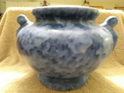 Vintage Brush McCoy Art Pottery Urn Vase Blue