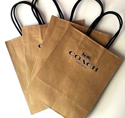 "8 Coach Store Gift Bags 8""x10"" Coach New York Bags"