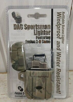 The Sportsman CAMO Lighter Refillable BUTANE Windproof Water Resistant NEW
