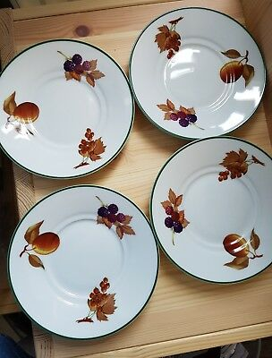 Royal Worcester China Evesham Tableware Saucers : evesham tableware - pezcame.com
