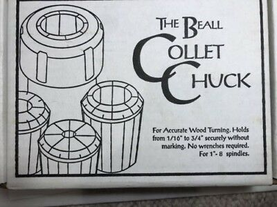 """BEALL COLLET CHUCK SET Holds 1/16""""-3/4/"""""""