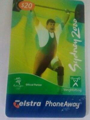 $20 used Phoneaway Sydney Olympics 2000 Weightlifting 00020092PA