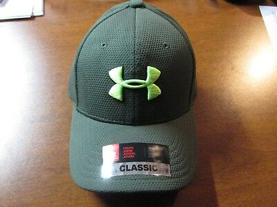 """Under Armour (Youth) """"heat Gear"""" Performance Flex Fit Hat (Sm/md Youth) Green"""