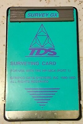TDS Surveying Card For HP 48GX