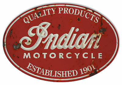 Indian Motorcycle 1901 Series Vintage Metal Sign 11x18