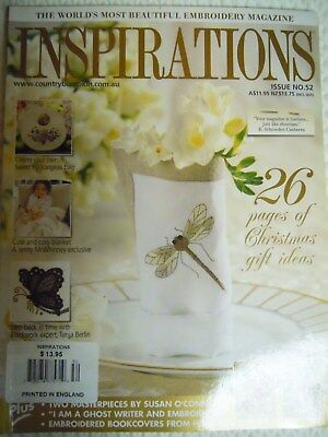 Australian INSPIRATIONS MAGAZINE Issue 52-Pullout Patterns-Embroidery-From 2006