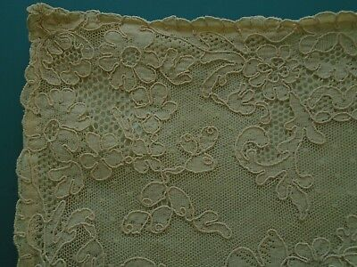 Antique Victorian Chantilly Lace Pillowcase Ring Pillow