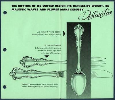 1974 Towle Debussy Sterling Silver Brochure Price List Flatware