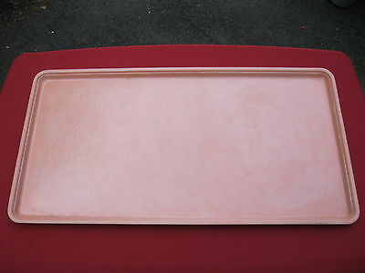 Molded Fiberglass Tray Co. MFG 337001 NSF Bakery Meat Cafeteria 24x12 Salmon