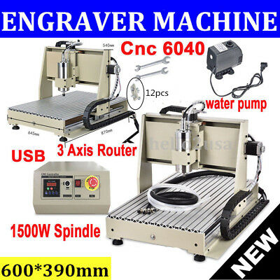 3 AXIS 6040T CNC ROUTER ENGAVER ENGRAVING MACHINE USB WOOD CRAFTS CARVING 3D Cut