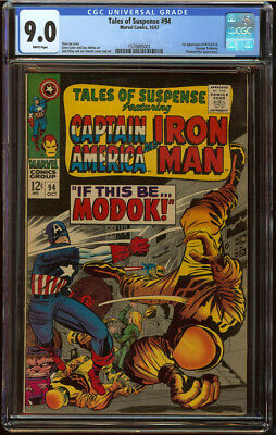 Tales of Suspense #94 CGC 9.0 White Pgs First appear MODOK Silver Age Key Book