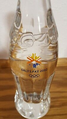 CocaCola 24% solid lead crystal bottle. 2002 Salt Lake winter olympics.
